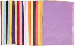 "Sax Wrinkle Free Decorator Felt - Pack of 100 - 15 Colors - 8.5"" x 12"""