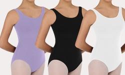 Body Wrappers Women's 2 PC Ballet Cut Tank Leotard - White/Lilac - Size: S