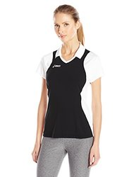 ASICS Women's Attacker Cap Sleeve Top - Black/White - Size: Large