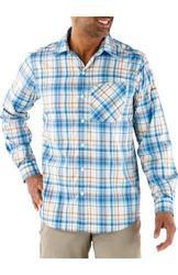 Columbia Men's Insect Blocker Plaid Long Sleeve Shirt - Hyper Blue - Small