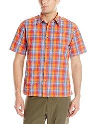 Mountain Khakis Men's Deep Creek Crinkle Shirt, Cantaloupe/Multicolor, Small