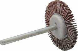 "Merit 1-3/16""x1/8"" FaceMicro Mini Grind-O-Flex Abrasive Flap Wheel"