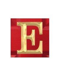 Michael Healy Designs Polished Brass Letter E Monogram Door Knocker