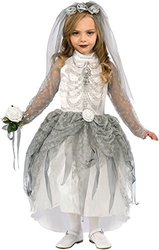 Forum Novelties Girls Skeleton Bride Costume - Medium