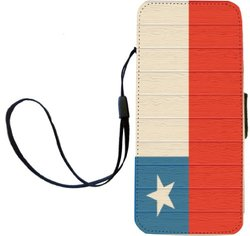 Chad Flag on Distressed Wood Flip Wallet Case for iPhone 5 & 5s - Multi