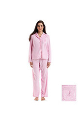 Jasmine Rose  Printed Fleece Pajamas Jasmine Rose  Printed Fleece RobeJasmine Rose  Printed Fleece Pajamas