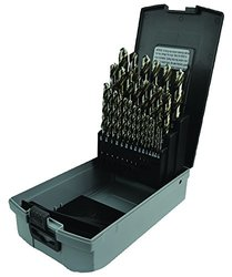 Morse Cutting Tools 18005 Left Hand Jobber Length Drill Set, High-Speed Steel, Bright Finish JL Size, 29-pieces