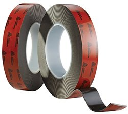 "Avery Dennison AFB 6215B 108'x0.75"" Double Sided Acrylic Foam Tape - Black"