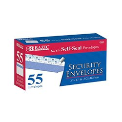 Bazic No. 6.75 Peel and Seal Security Envelope - Pack of 55 (5066-24)