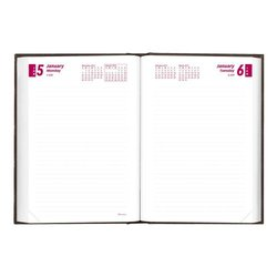 Brownline 2015 Daily Journal, Untimed, Hard Cover, Black, 7.5 x 5 Inches (CB387.BLK-15)