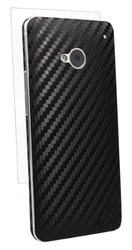 BodyGuardz BZ-ACBON-0313 Carbon Fiber Armor Stylish Skin Full Body Protector for HTC One - 1 Pack - Retail Packaging - Black
