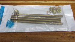 Perko 4 Brass Tie Rod With Nuts & Wash - Bronze Raw