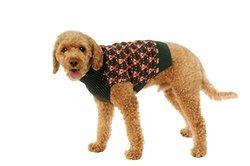 Alex Stevens 100-Percent Cotton Jacquard 8 Bit Santa Doggie Apparel Clothing Mock Turtleneck Sweater, Small