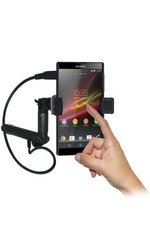 Amzer Vehicle Mount w/ Charging & Case for Sony Xperia ZL L35a - Black
