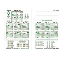 "Brownline 2016 North American Financial Calendar, Refill, Virgin Paper, 7.25"" x 4.75"" (C6R-16)"