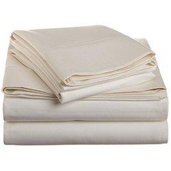 1500 Thread Count Bed Sheet Set Deep Pocket - Ivory - Size: King