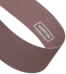 "Norton Metalite R228 Backstand Abrasive Belt, Cotton Backing, Aluminum Oxide, 3"" Width, 132"" Length, Grit 180 (Pack of 10)"