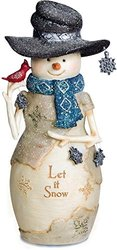 Pavillion Gift Company  Let It Snow Snowman Figurine