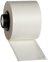 "Brady PTL-34-498 TLS 2200 And TLS PC Link 6"" Height, 1.5"" Width, B-498 Repositionable Vinyl Cloth, White Color Label (50 Per Roll)"