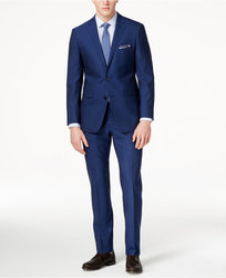 Vince Camuto Men's Slim Fit  Suit - Blue - Size: 40L/33