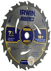 "7-1/4"" 18T Marathon Thin Kerf Bulk Circular Saw Blade"