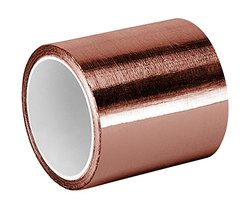 "TapeCase 3-6-1181 Copper/Acrylic Adhesive, Foil Tape with Conductive Adhesive-Converted from 3M 1181, Length: 6"", Width: 3"""