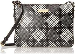 Anne Klein Mod Time Cross Body Bag - White/Black - One Size