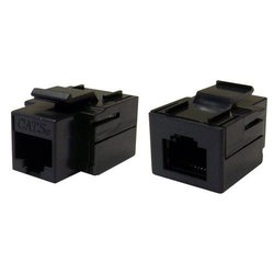 CAT5E, RJ45 Inline Keystone Coupler, Black Color - 310-220BK