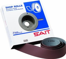 United Abrasives/SAIT 81530 2 X 50 Yards 150X Aluminum Oxide Industrial Shop Paper Roll, 1-Pack