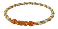 Phiten Tornado Necklace, Burnt Orange/White, 18""