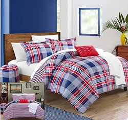 Chic Home Manchester Reversible Bed Set Red