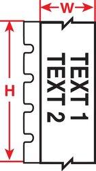 """Brady M71C-2000-472-YL 2.00"""" x 50', B-472 Flame Retardant Wire Wraps (1 Roll)"""