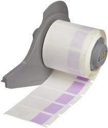 """Brady M71-30-427-PL 0.75"""" Width x 1.5"""" Height Purple/Translucent Color B-427 Self-Laminating Vinyl Labels With Matte Finish For BMP71 Label Printer (250 Per Roll)"""