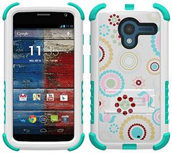 Smartphones Hybrid Armor Rugged Defender Case - White/Blue (TSMOXDE47N01)