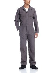 Wenass WSBCVN60UGRY-56RG Deluxe Field Coverall with 6.0-Ounce Fire Resistant Nomex IIIA Twill, Size 56, Regular, Grey