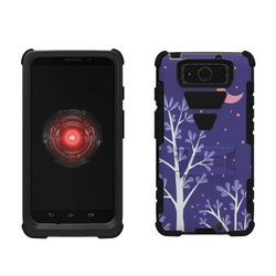 Tough Armor Rugged Case for Motorola Droid Ultra - Black/Purple