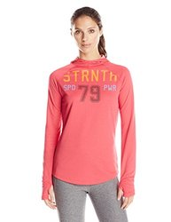 Reebok Women's Work Out Ready Poly Hoodie - Blazing Pink - Size: Medium