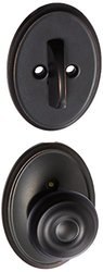 Schlage Georgian Knob Dummy Deadbolt Plate Wakefield Rose - Aged Bronze