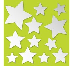 Brewster Home Fashions MA998 Stars - Peel And Stick Mirror Art Pack Of 2