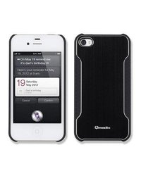 Qmadix Snap On Face Plate for Apple iPhone 4 - Black