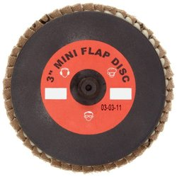 Merit Abrasives 481-08834194551 Type 27 Zirconia Mini Powerflex Discs, 2 in., 40 Grit, 24,000 Rpm, Type 3