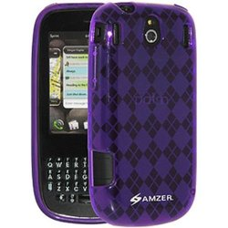 Amzer Luxe Argyle Skin Screen Protector Case for Palm Pixi - Purple