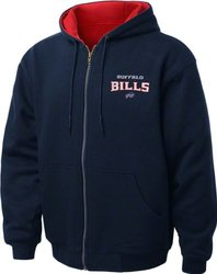Dunbrooke Apparel NFL Buffalo Bills Thermal Hoodie - Navy/Red -Size: 5XL