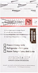 SPECI-GARD 95-CMS59 Specimen Bag, Adhesive Closure, Biohazard, Clear (Case of 1000)