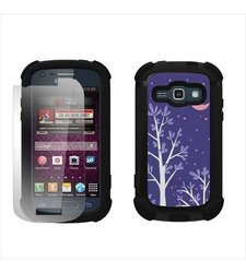 Beyond Cell Duo-Shield Durable Hybrid Hard Shell and Silicone Gel Case - Non-Retail Packaging - Purple Night Black/Black