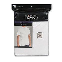 Fruit of the Loom Premium Men's 4 Pack Premium Cotton T-Shirts - Size: S