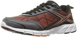 Fila Men's Memory Granted Running Shoe - Black/Vibrant Orange - Size: 11.5