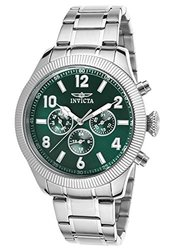 Invicta Men's Multifunction Watch: 20328SYB/Silver Band-Green Dial