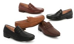 Franco Vanucci Men's Slip-on Dress Shoes: Tan/11