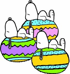 Eureka Peanuts It's The Easter Beagle Paper Cut Outs